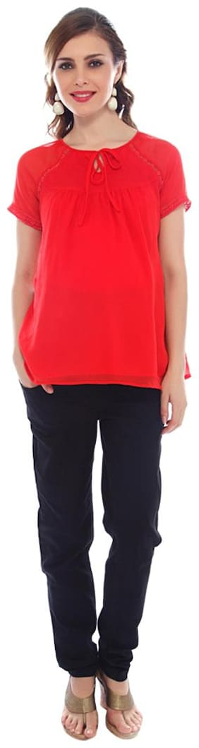 Nine Maternity Women Maternity Top - Red L