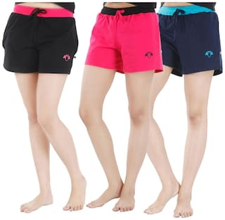 Nite Flite Athletic Cotton Hot Shorts-Pack of 3