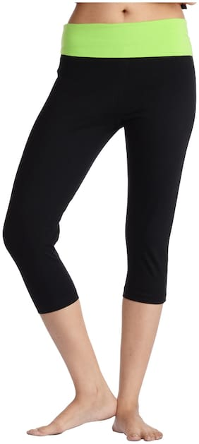 Nite Flite Women Solid Sport shorts - Black