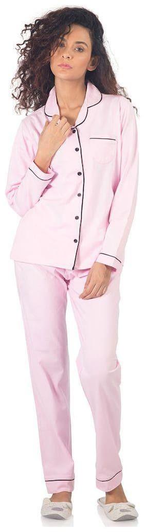 Nite Flite Classic Pink Premium Cotton Pajama Set