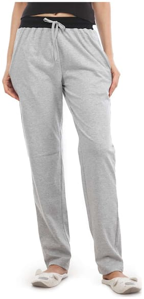 Nite Flite Women Cotton Solid Pyjama - Grey