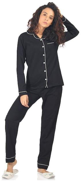 Nite Flite Classic Black Premium Cotton Pajama Set
