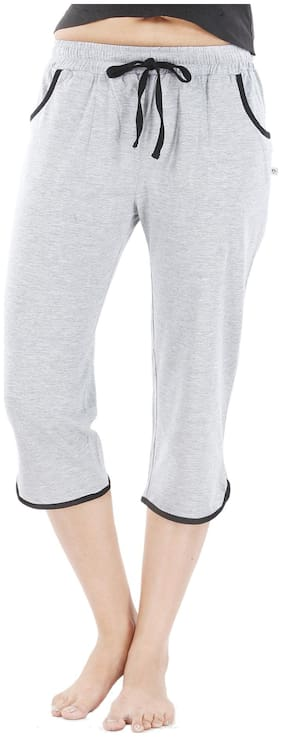 Nite Flite Grey Cotton Capri