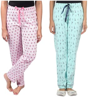 Nite Flite Women Cotton Printed Pyjama - Multi