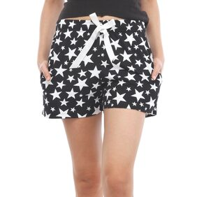 Nite Flite You Are My Star Cotton Shorts (LT-327_S;Multicolor;S)