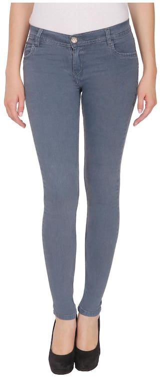 NJ's Woman Grey Skinny Fit Jeans