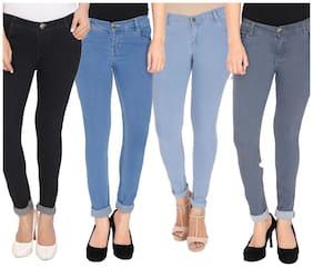 NJ's Women Skinny fit Low rise Printed Jeans - Multi