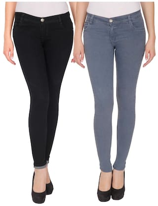 NJ's Woman Multicolor Skinny Fit Jeans