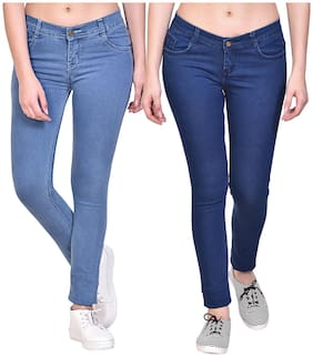 NJ's Women Blue & Navy Straight fit Jeans