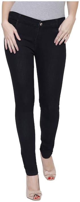 NJ's Women Black Slim fit Jeans