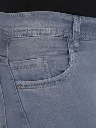 Denim NJs;Grey Women Waist Silky Jeans Low wgr1IqgP