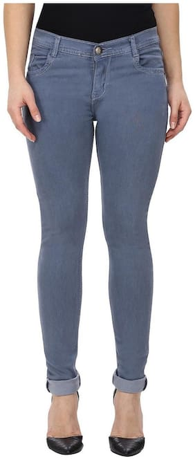 NJ's Women Grey Straight fit Jeans