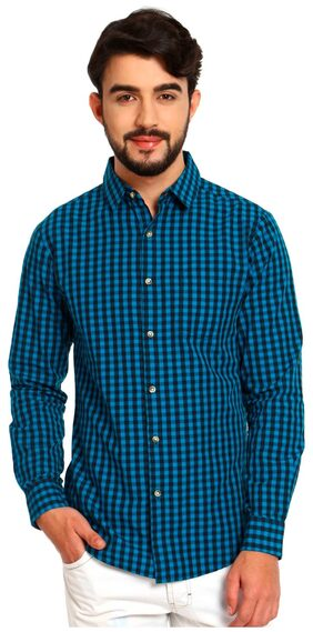 NOBLE FAITH Blue color 100% Cotton Full Sleeves Shirt for mens