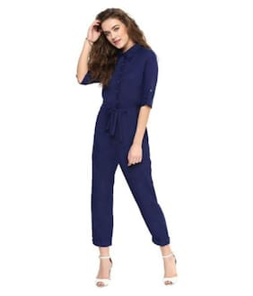 NOXYCHOO Solid Jumpsuit - Blue