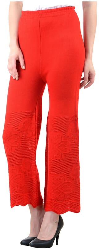 Plazzo Red NumBrave Red Fit Fit Plazzo NumBrave NumBrave Wool Wool Red awdxBq1B