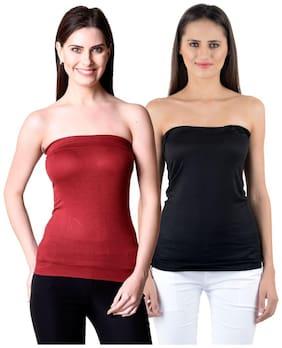 NumBrave Women Viscose Solid - Regular tunic Multi