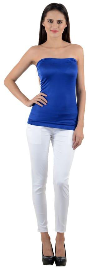 NumBrave Women's Blue Tube Top