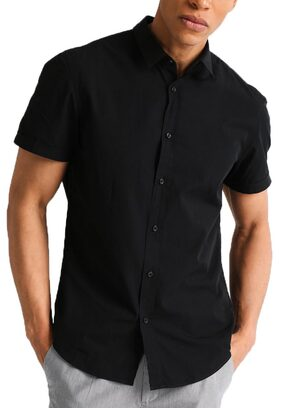 NxtSkin Half sleeves casual wear shirt for men - Black