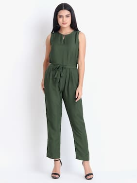 O Madam Solid Jumpsuit - Green