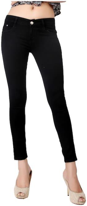 Obeo Women Black Slim fit Jeans