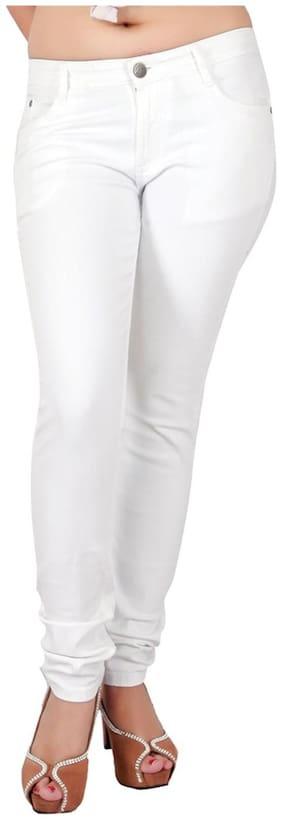 Obeo Women White Slim fit Jeans