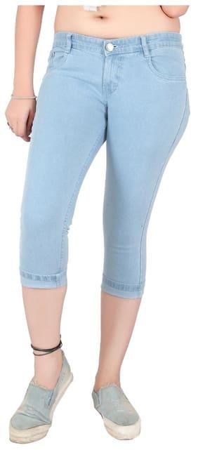 Obeo Women Solid Shorts - Blue