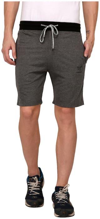 Odoky D.Grey Cotton Casual Shorts
