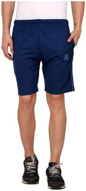 Odoky Denim Blue Cotton Casual Shorts
