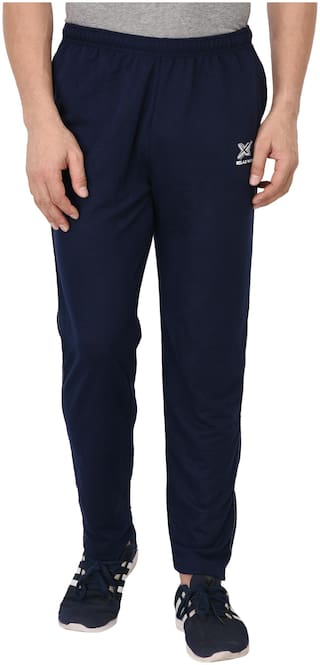 Odoky Men Navy blue Solid Regular fit Track pants