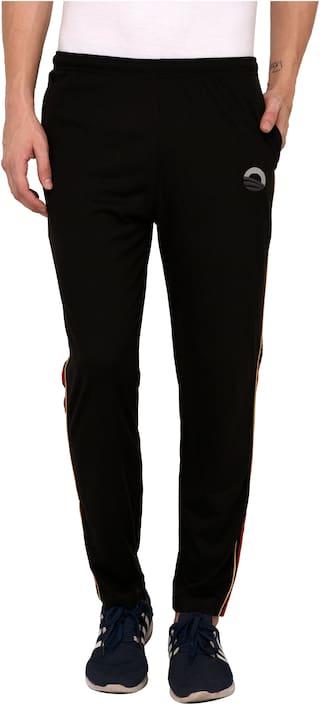Odoky Men Black Solid Regular fit Track pants