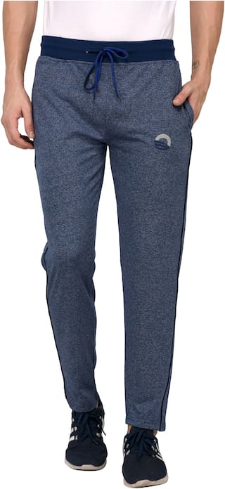 Odoky Men Blue Solid Regular fit Track pants