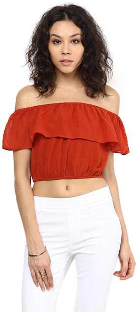 109°F Women Solid Regular top - Orange