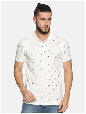 KRYPTIC Men White Regular fit Cotton Polo collar T-Shirt - Pack Of 1