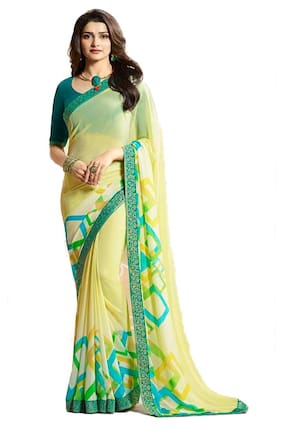 Office wear Cum Daily wear Branded Georgette Printed saree with blouse