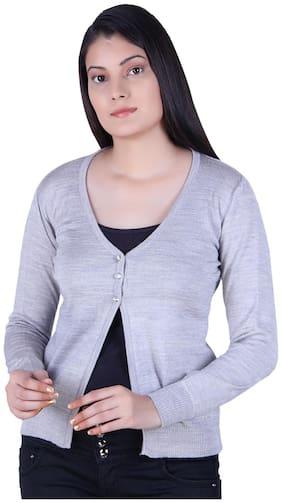 Ogarti Women Solid Cardigan - Grey