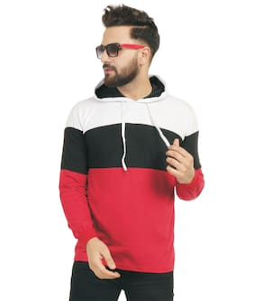 OH YES Men Multi Regular fit Cotton Hood T-Shirt - Pack Of 1