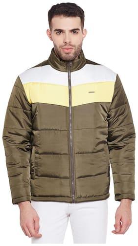 Olive Nylon synthetic Jacket