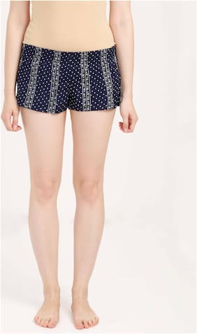 Olli Women Printed Regular shorts - Blue