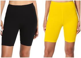 Women Cotton Regular Fit Shorts ,Pack Of 2