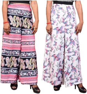 Women Blended Palazzo ,Pack Of 2
