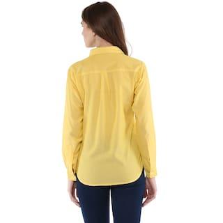 Shirt Down Button Women's Solid Femme One wXfz66