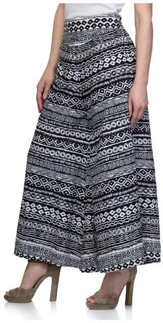 One Palazzo Flared Femme Monochrome Women's Print xqwvUAHY