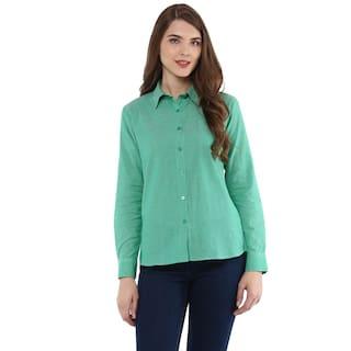 One Femme Women's Solid Button Down Shirt