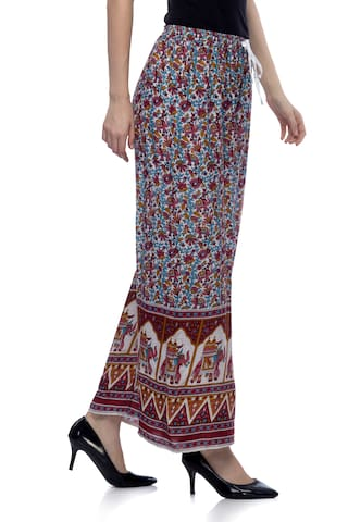 One Femme Women's Jaipur Print Multicolored Palazzo