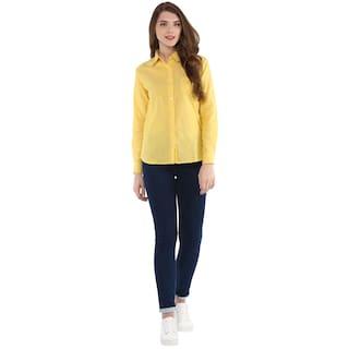One Button Femme Women's Solid Down Shirt SSB7vqwr