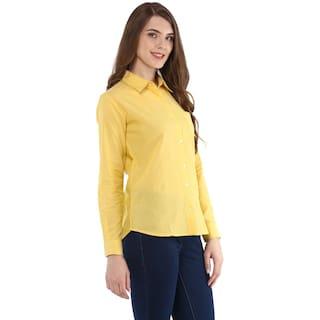 Button Femme Down Solid Shirt Women's One BAxnqgd4q