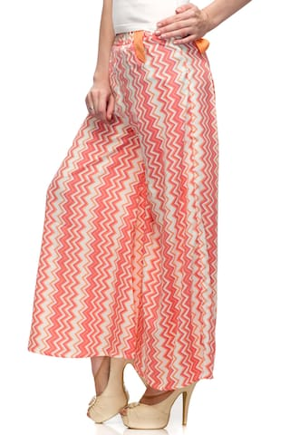 Belt Loop Femme Palazzo One Printed with Women's wHxT6qg