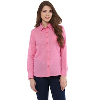 One Femme Women's Solid Button Down Shirt