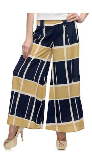 One Femme Women's Printed Palazzo with Belt Loop