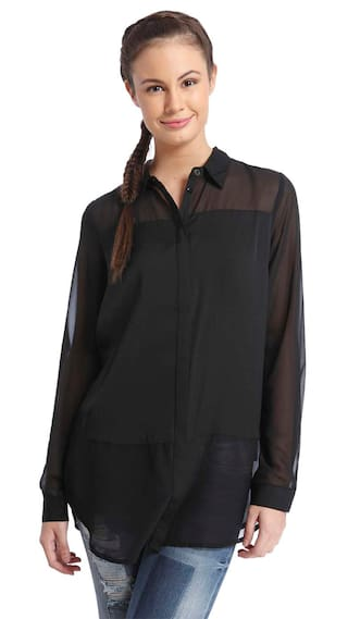 Only Black Polyester Shirt